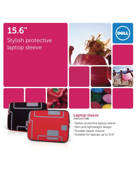 "DELL F1 15.6"" Notebook sleeve, red"