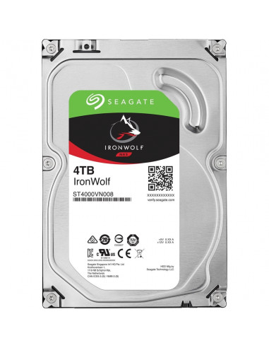 SEAGATE HDD IRONWOLF (NAS) 4TB SATAIII/600, 5900rpm, 64MB cache - 1