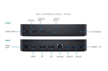 DELL univerzálny Dok D6000 - 2