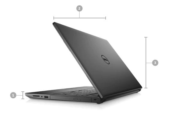 Dell Inspiron 3567 rozmery a hmotnosť